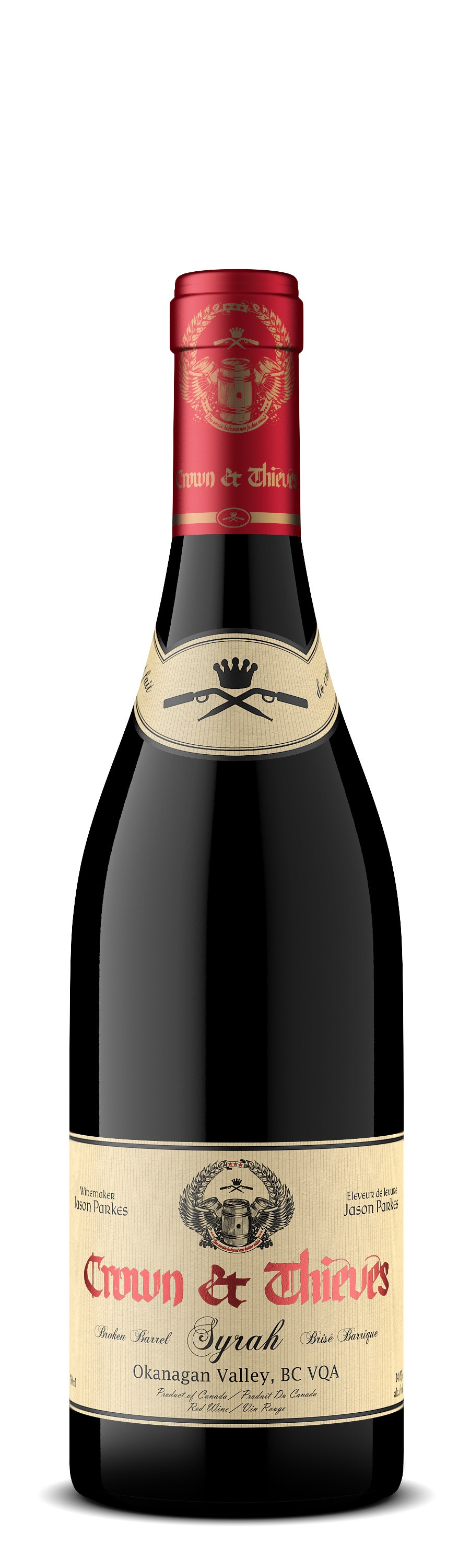 "Crown and Thieves ""Broken Barrel"" Syrah"
