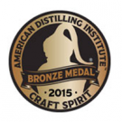 American Distilling Institute 2015 Craft Spirit, Bronze Medal
