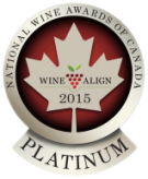 National Wine Awards of Canada 2015, Platinum Medal