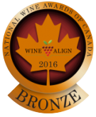 National Wine Awards of Canada 2016, Bronze Medal